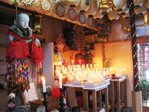 北向誓願地蔵石像と北向誓願地蔵菩薩の壇