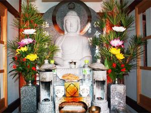 極楽化主北向阿弥陀如来合祀坐像